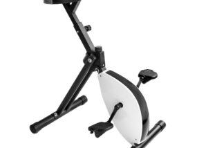 Svartvit skrivbordscykel deskbike storlek medium