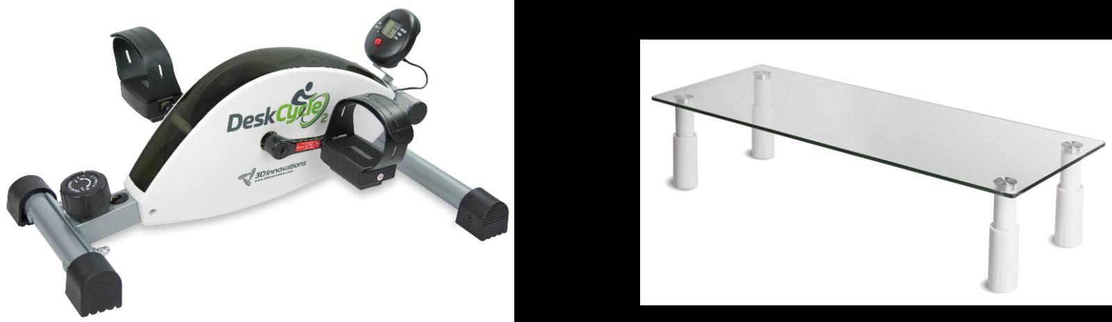 Hemmakontor paket small SportOffice skrivbordscyklar och